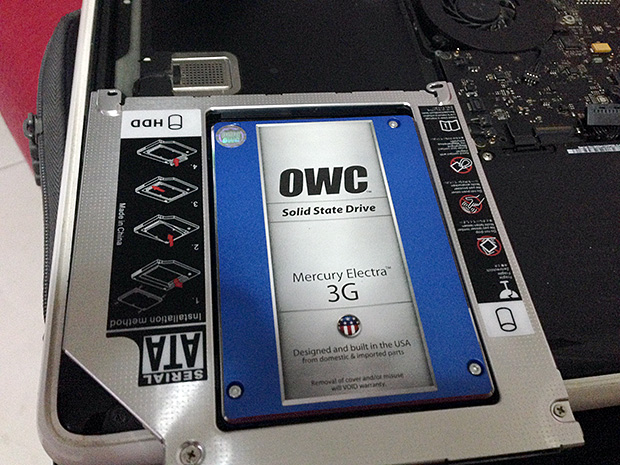 adding second SSD to my macbook